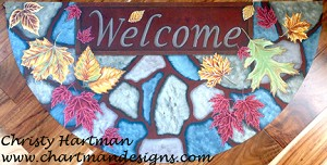 Welcome Fall Floor Cloth